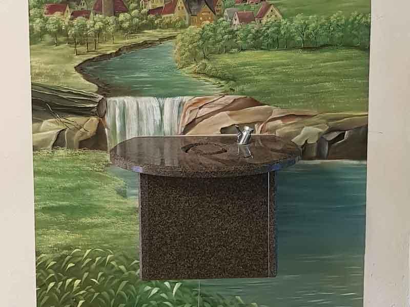 Trinkbrunnen Perfecto Multicolor runde Ecken